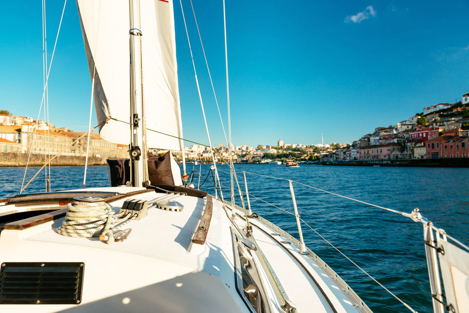 Day Douro  Holiday Luxury Mast Mode Of Transport Nautical Vessel No People Oporto Outdoors Porto Portugal River Sail Sailboat Sailing Sailing Ship Sea Sky Transportation Travel Travel Destinations Water Yacht Yachting