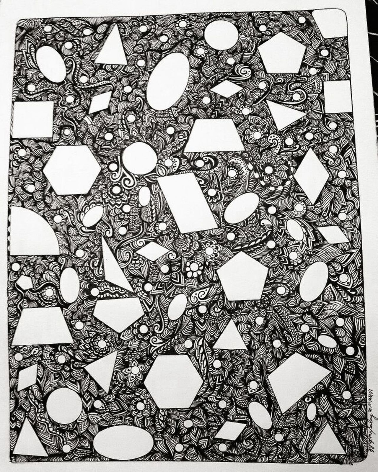 When inner demons won't let me sleep, I let them out with the help of my pen and paper. 🎨 Pattern No People Zentangleart ZentangleInspiredArt Artist Blackandwhite Black & White Pen And Ink Pen And Paper Geometric Art Geometric Design Accidental Art ArtWork Doodle Art, Drawing, Creativity Artists Artofvisuals Stressrelief Frustratedartist Moments