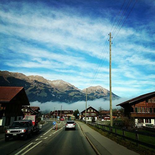 Switzerland Myswitzerland Hometown Moutains Fog Driving Frutigen Bernese Oberland Stateofbern
