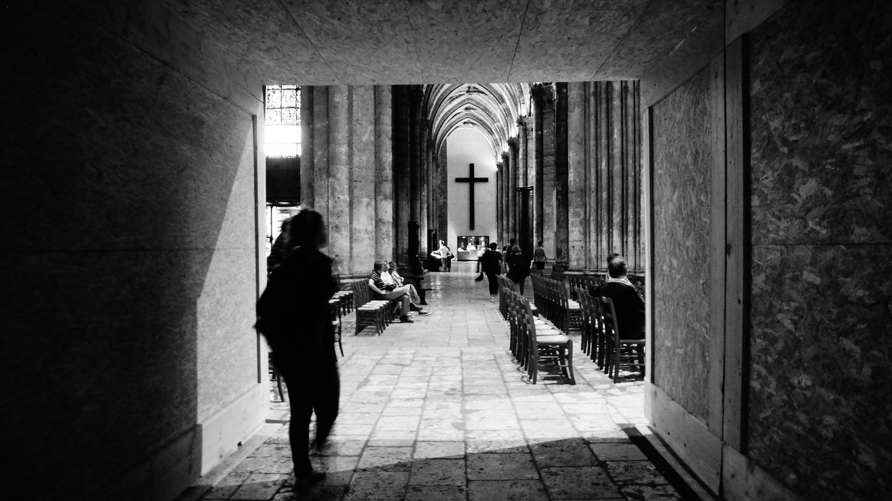 Blackandwhite Bnw Cathedralenotredame Chartres, France Inside Light And Shadow NexF3 Sunday Afternoon