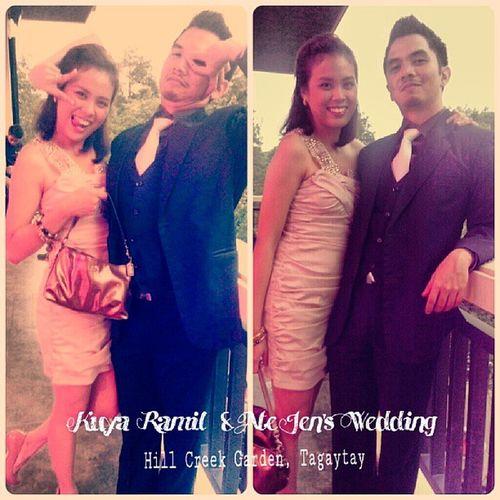<3 with @armelbonifacio Ramil -jen Wedding Hillcreek Tagaytay