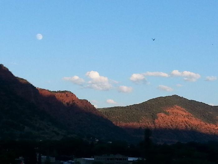 Moon flight over Glenwood Full Moon Goodnight Moon