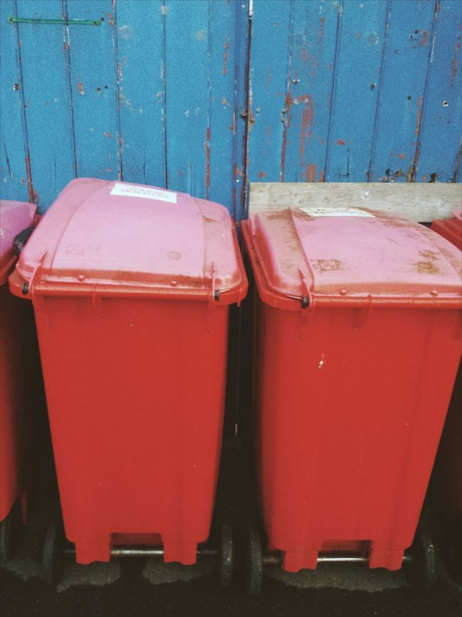 Red No People Day Rubbish Bin Refuse Drink Indoors  Close-up