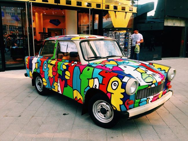 Car Color Explosion Street Art I ❤ BERLIN