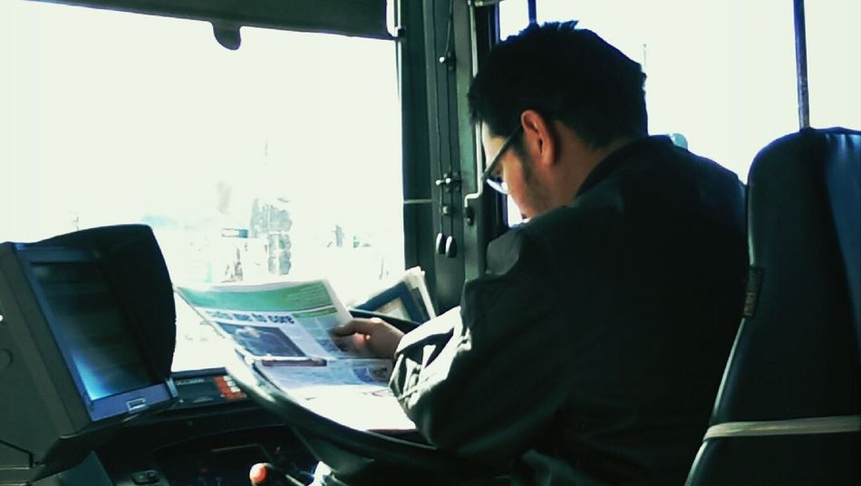 this bus is going nowhere Public Transportation Commuting People Watching Daydreaming