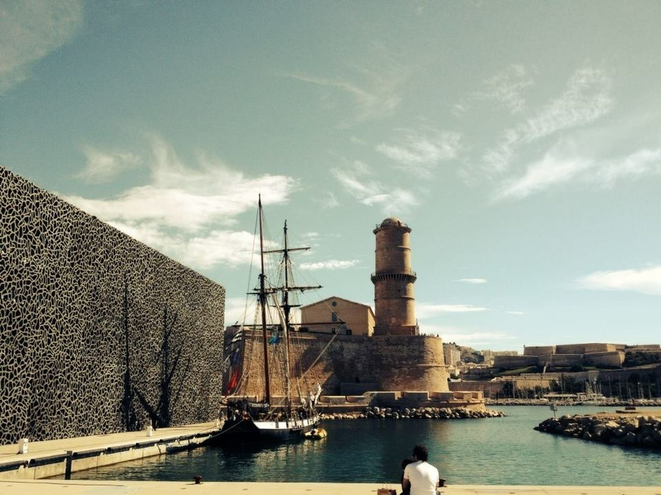 The Tourist Marseille France Harbour :: MUCEM And Fort St-Jean, Marseille :: Mucem Traveling Travel Photography