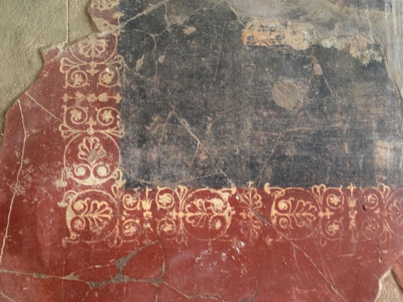 Antient Antique Decoration Design Detail Frame Fresco Historic History Italy Naples Paint Pompeii  Pompéi Roman Romantic