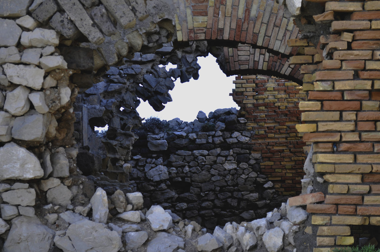 Punta Campanella Ancient Civilization Architecture Brick Wall Building Exterior Built Structure Fort History No People Old Ruin Tower