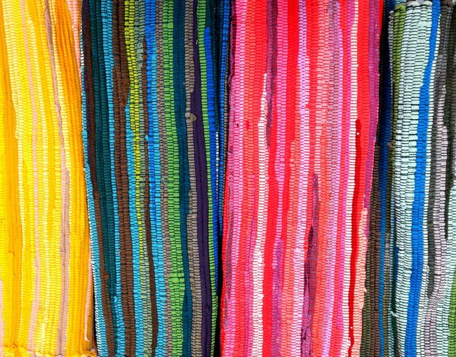 Multi colored Striped Background, Multi Colored Close-up Pattern Textured  Striped No People Backgrounds Day Carpet Stripes Pattern Stripes
