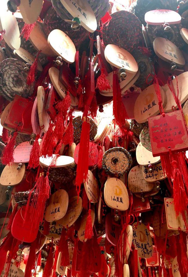 Chinese Wishing Tree at Phoenix Mountain in Baoan - Shenzhen, China Traditionally Chinese Chinese Style Chinese Culture Traditional Chinese Phoenix Mountain Hanging BaoAn Temple Buddhist Temple Wishing Tree Tree Mountain Buddhism Shenzhen Wish Tree Wishes Chinese Traditional Culture China