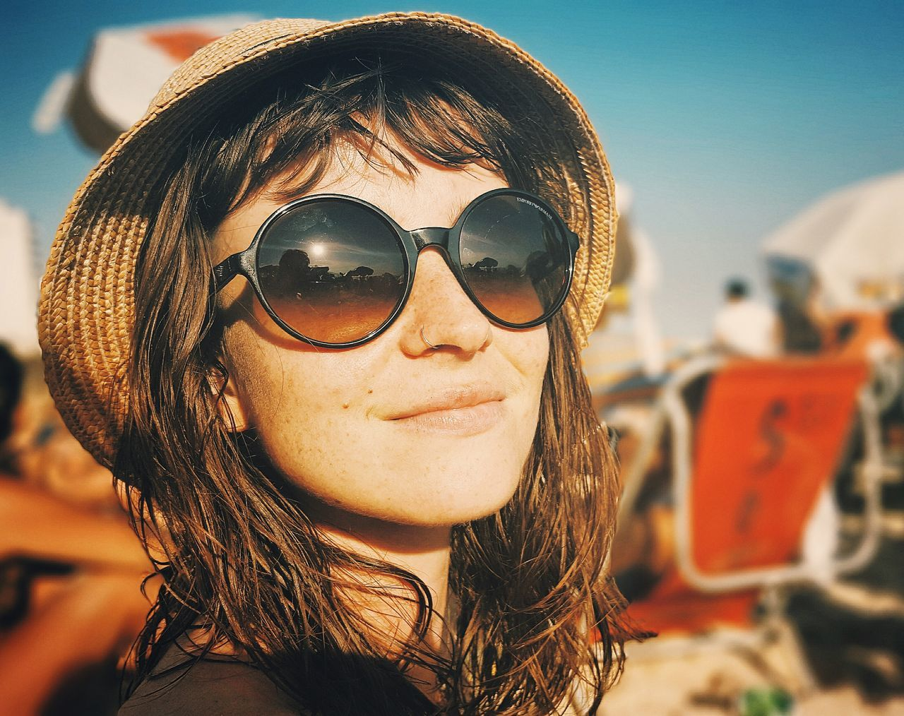 Fear And Loathing in Ipanema Sunglasses Portrait Looking At Camera Headshot Outdoors Women Fashion Sunlight Lifestyles One Woman Only One Person Beach Photography Ipanema Beach Rio De Janeiro