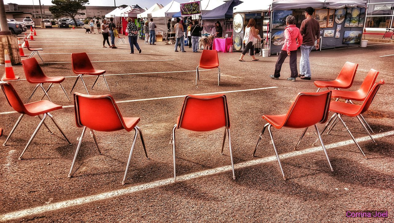 The Circle of Chairs. Samsung Galaxy S6. Ocean Shores, Washington (USA). Edited with Snapseed. Smartphonephotography Snapseed Editing  Check This Out Chairs Empty Chairs Chairporn Chairswithstories Circle Circles Craft Show