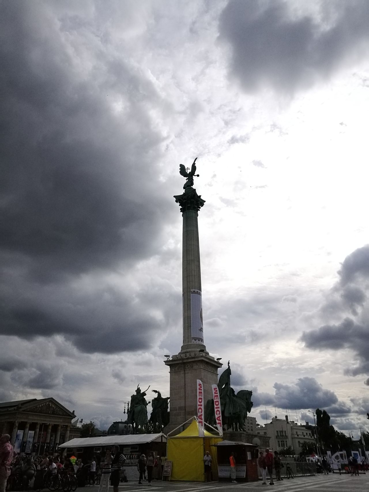 Travel Destinations Memorial Sky Architecture Monument City Budapest Hungary Big Clouds