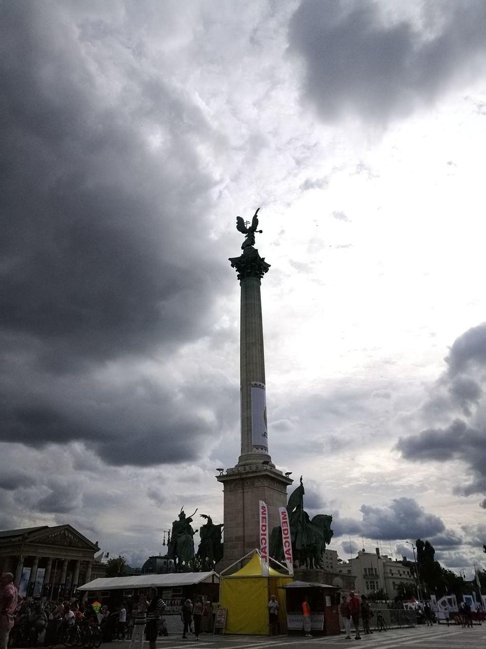 Travel Destinations Memorial Sky Architecture Monument City Budapest Hungary Big Clouds