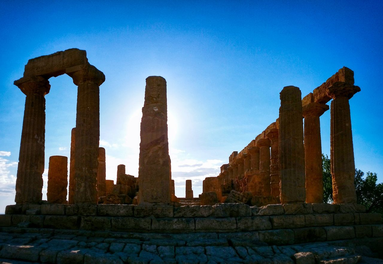 Valley Of The Temples Agrigento Sicily Italy Travel Photography Travel Voyage Traveling Mobile Photography Fine Art Backlight Architecture Classic Greek Temples Columns Shadows Silhouettes Sky Clouds Mobile Editing Showcase April