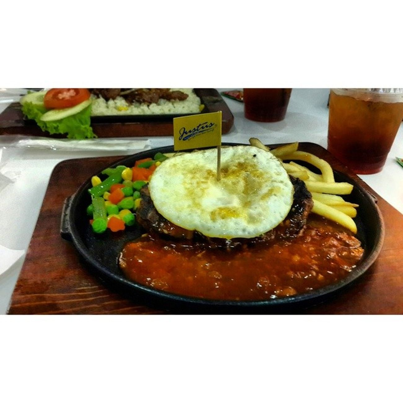 Egg burger steak ? Instasteak Instafood