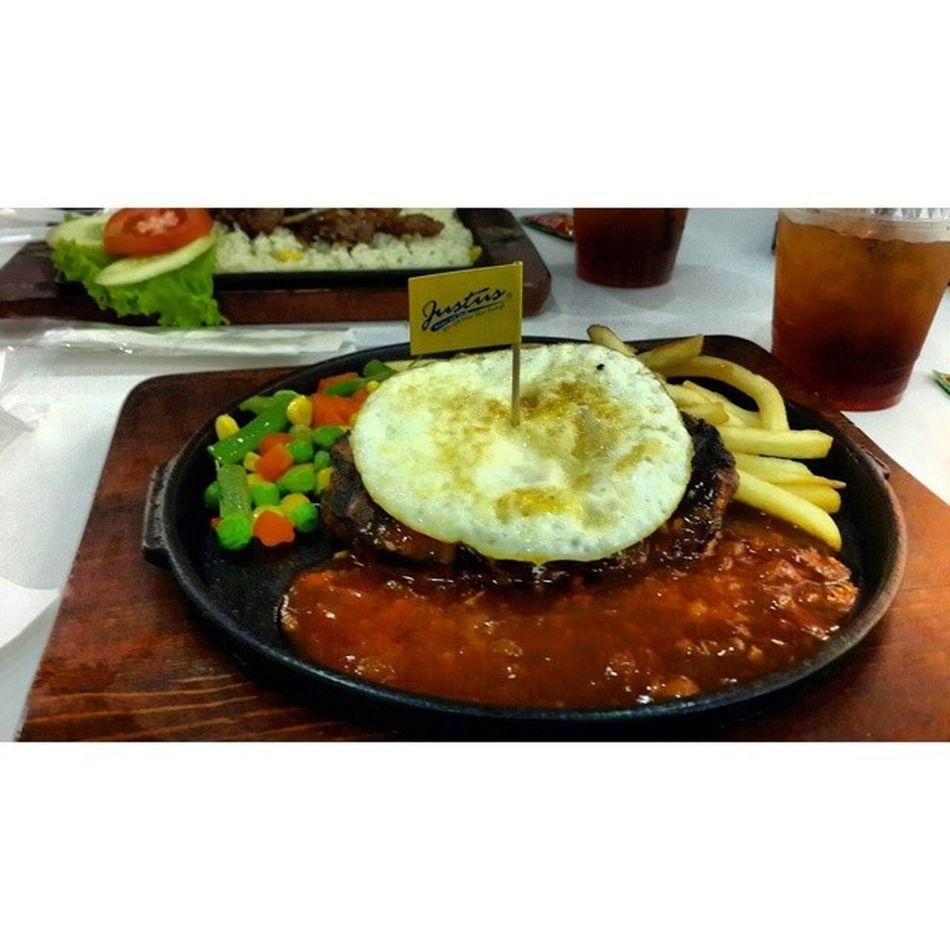 Egg burger steak ? Instasteak Instafood