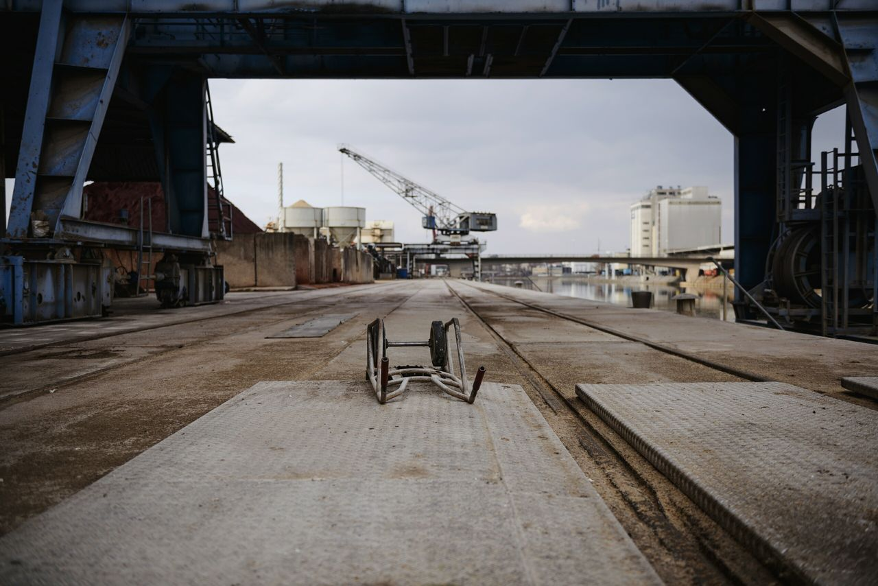 built structure, transportation, architecture, day, sky, freight transportation, no people, outdoors, building exterior
