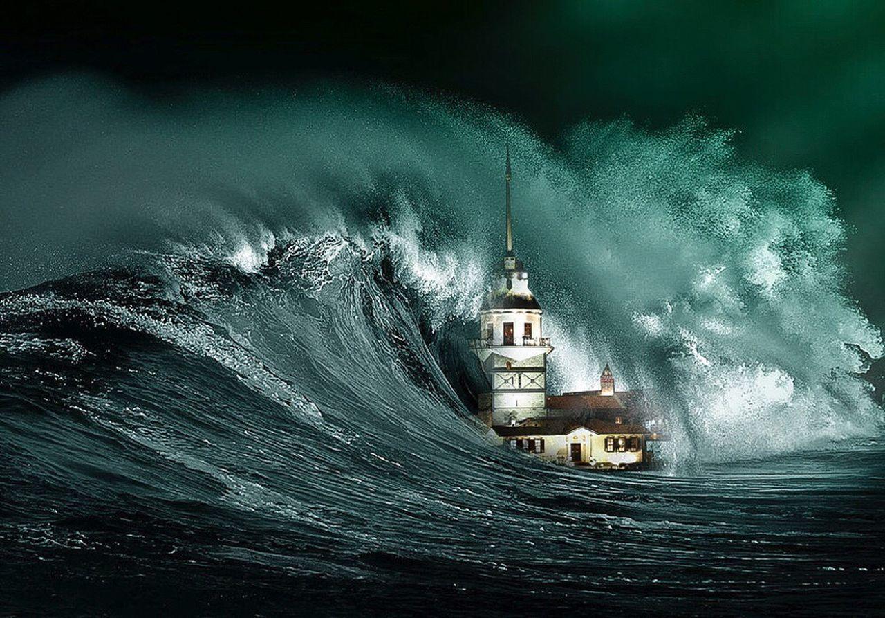 Kız Kulesi Kız Kulesi Maiden Tower Maiden Tower Istanbul Turkey Sea Tsunami