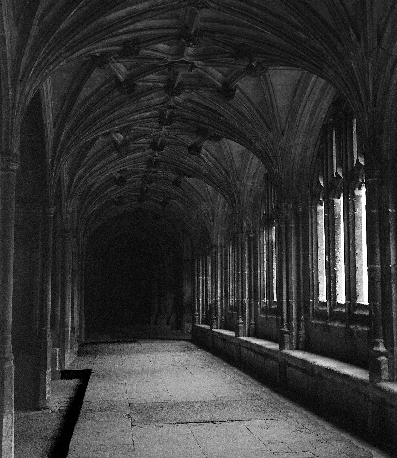 Architectural Column Architecture Cloister Colonnade Corridor Diminishing Perspective England, UK Historic
