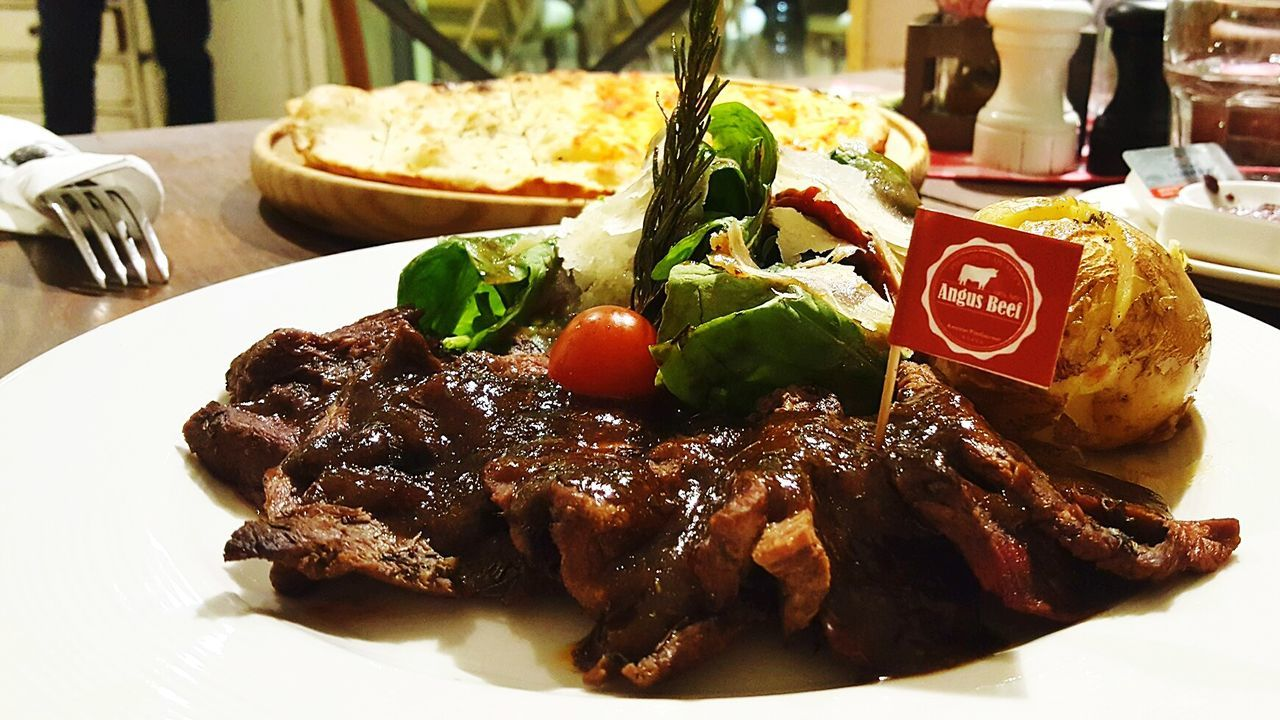 food and drink, food, plate, ready-to-eat, meat, freshness, indoors, no people, serving size, close-up, rib, day