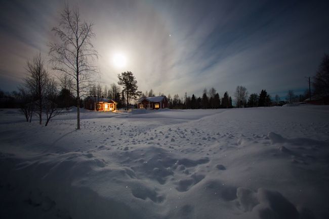 Snow Night Lapland Finland Landscapes With WhiteWall
