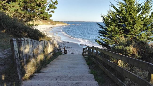 Sea Water Clear Sky Tranquil Scene Steps Tranquility Scenics Nature Sky Ocean Blue Calm Fouesnant Beg Meil Sea And Sky Bzh France Horizon Over Water Bretagne Plage Bretagnetourisme Finistere Breizh Beach Blue Sky
