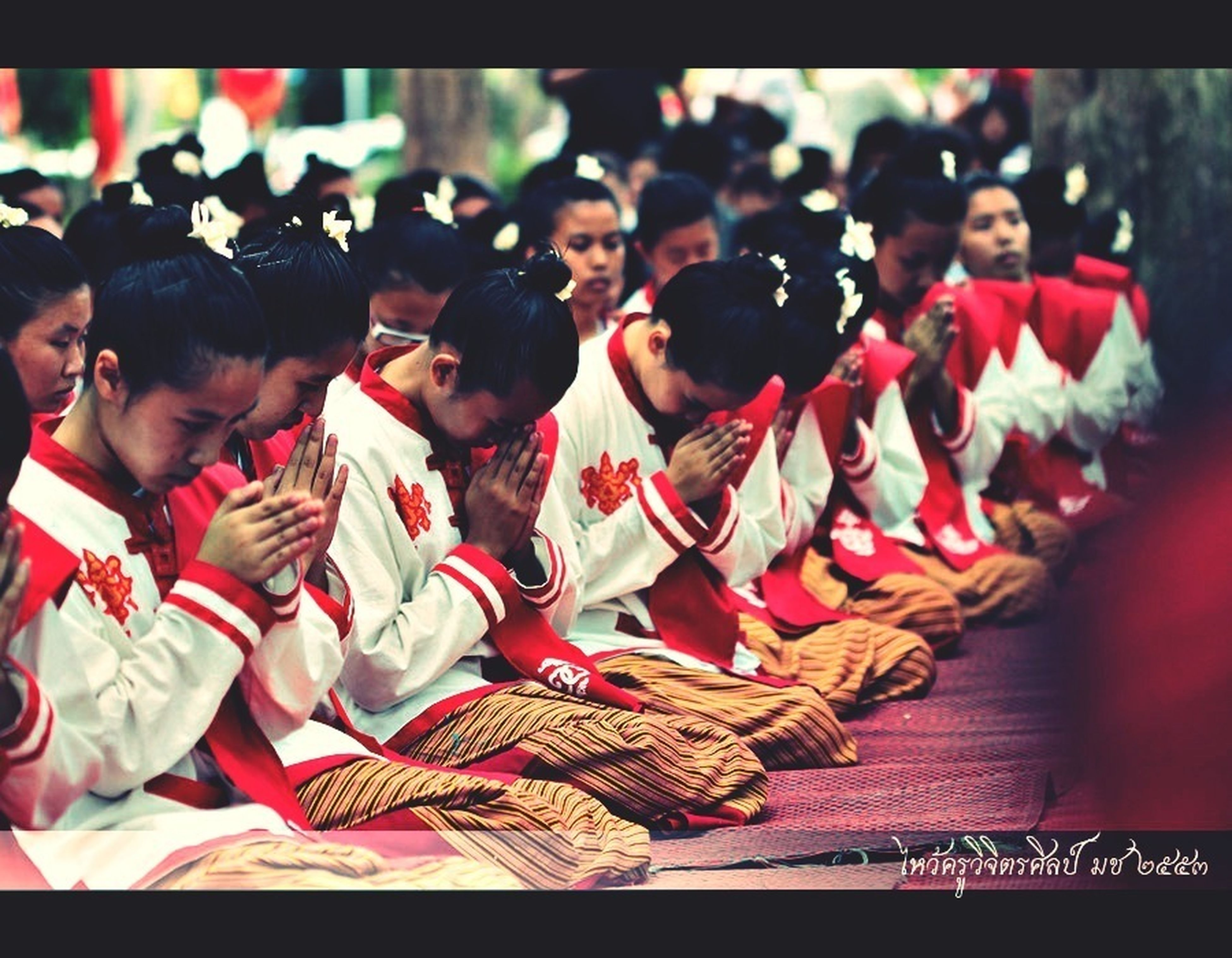 indoors, lifestyles, transfer print, leisure activity, togetherness, person, large group of people, auto post production filter, men, casual clothing, focus on foreground, sitting, tradition, celebration, cultures, standing, love, traditional clothing
