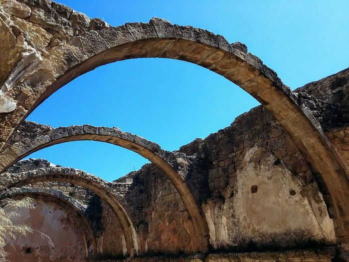 Arch Travel Destinations Architecture Blue History Built Structure Day No People Sky Outdoors in Vallferosa Catalunya Esglesia Sant Pere Barroco Abandoned Places