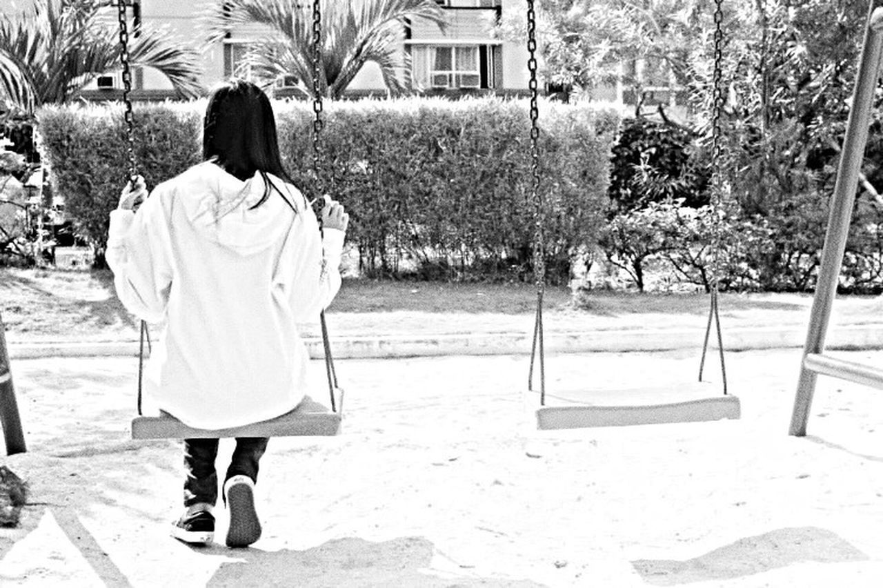 EyeEm Best Shots - Black + White Swing Childhood Modern Technology Took Over 21st Century Bring Me Back Memories