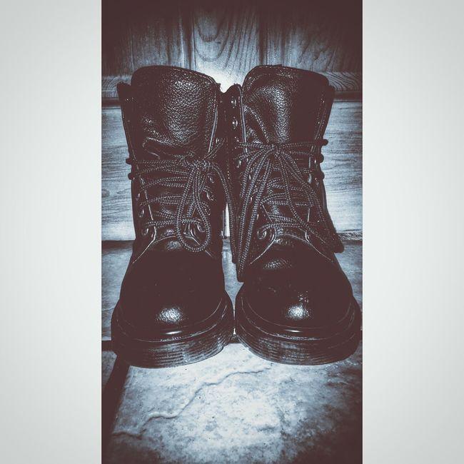 Hi! Indie Alternative Blackandwhite Boots Vegan Demonia Black