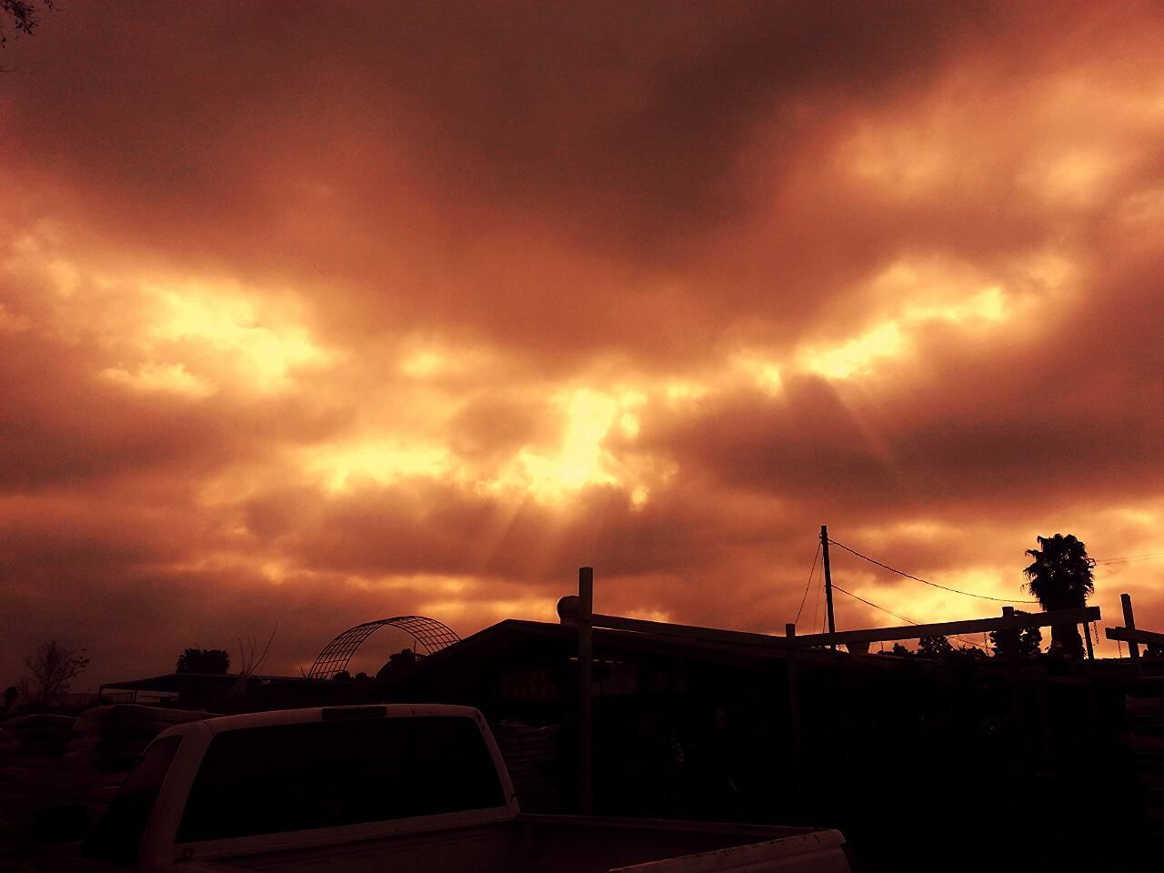 Los Angeles, California Bloodredsky Morning lightreys