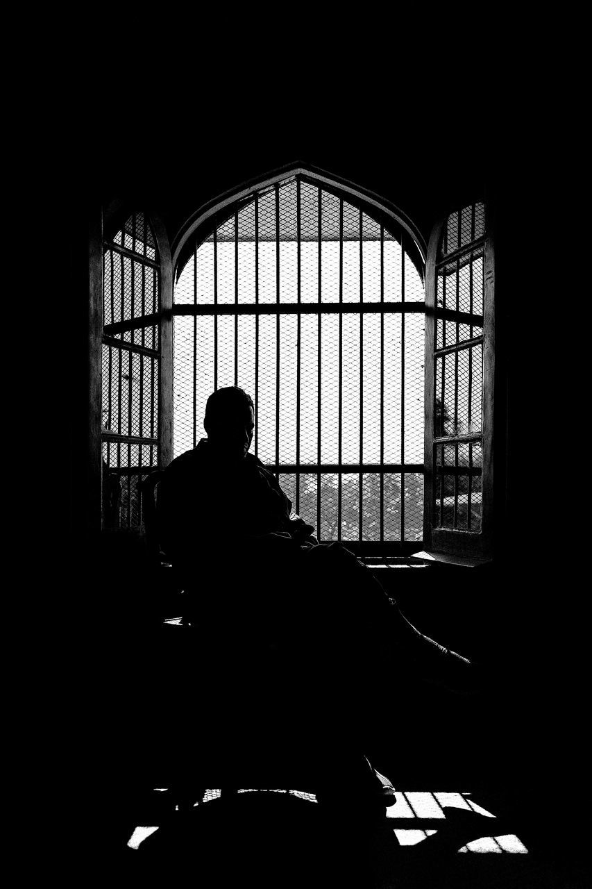 window, indoors, real people, day, one person, men, adult, people