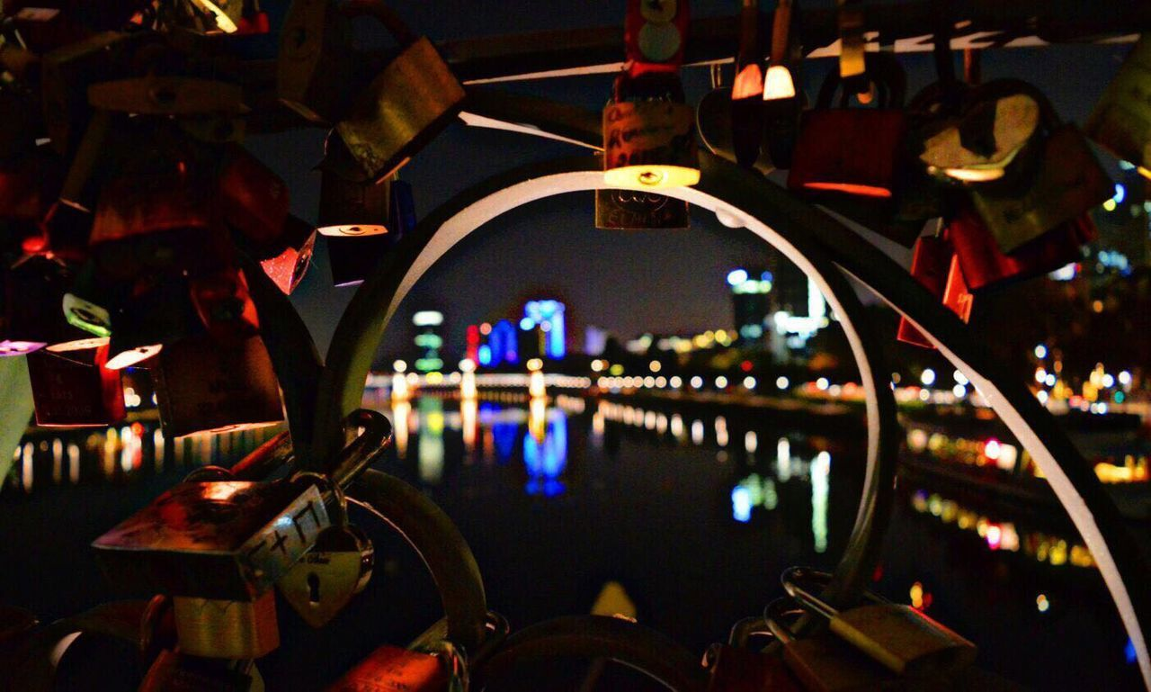 Night City Close-up Frankfurt Am Main Lovecity