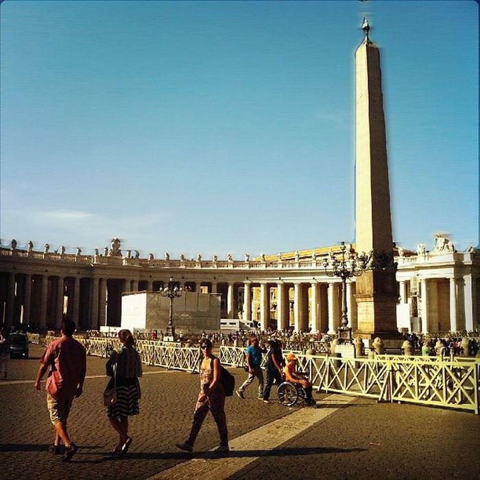 Piazza Basilica S Pietro saint peter obelisk white columns vatican vaticano city via della conciliazione arch architecture instagram instapics layers