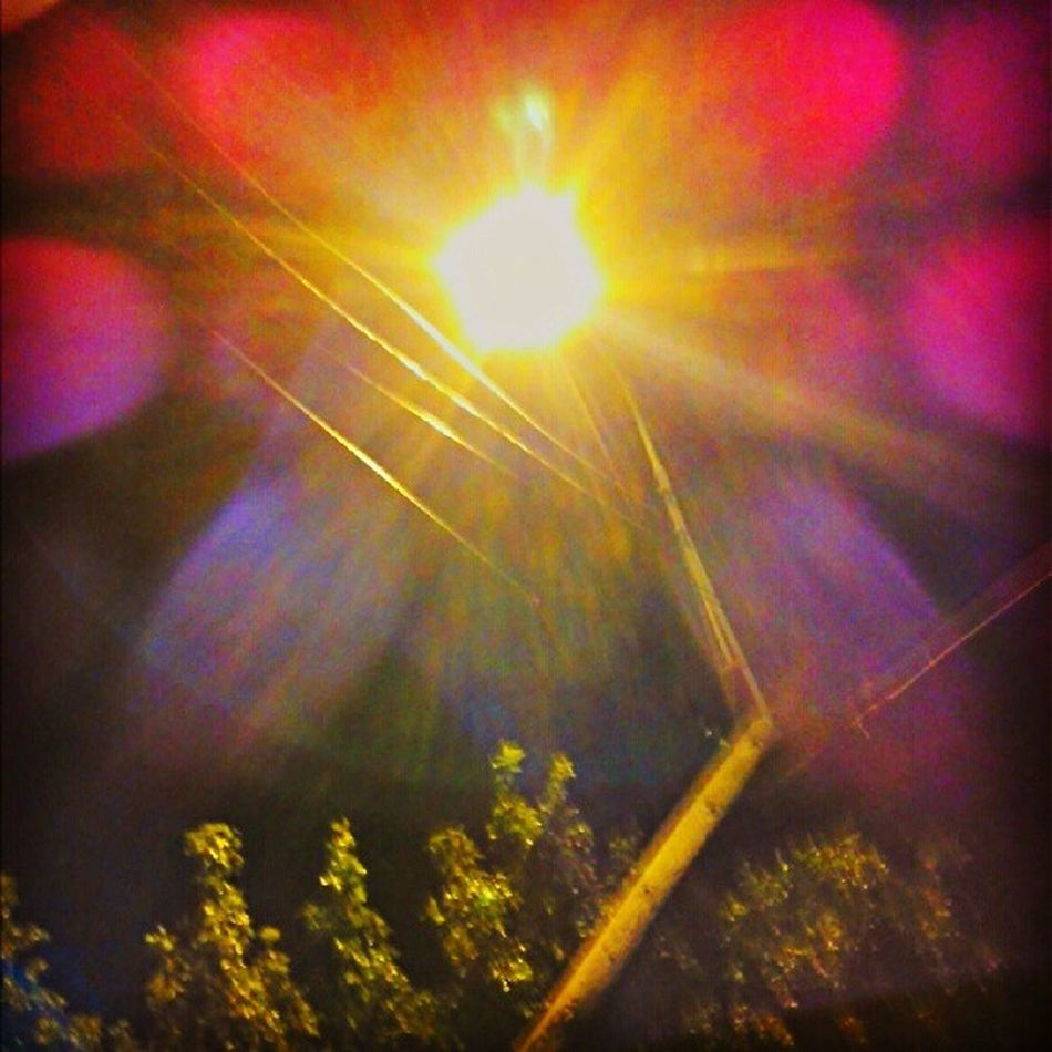 Street Lamps Alamodome Nightlife light