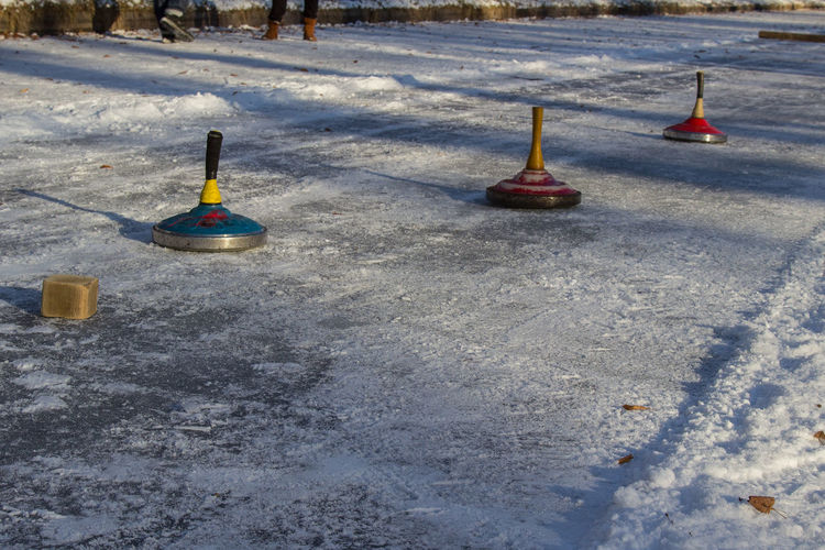 Cold Temperature Eisstock Fun Ice Kanal Lake No People Nymphenburg Nymphenburg Palace Outdoors Snow Snow ❄ Sport Tradition Winter Winter Stockschießen Ice Stock Ice Stock Sport Nymphenburger Kanal Bavarian Tradition Bavarian Curling Shades Of Winter