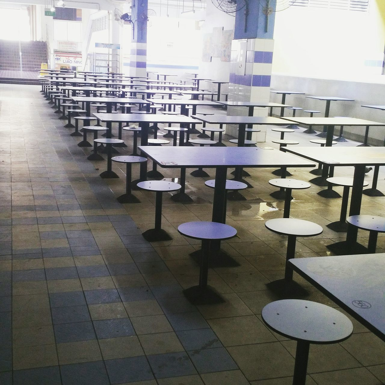 Nostalgia Chair No People Indoors  Day Hawker Centre Singapore