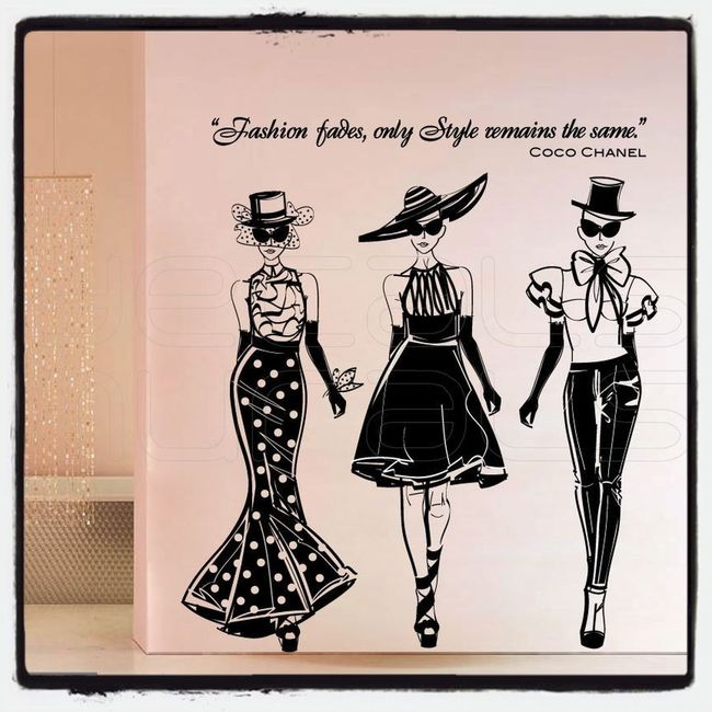 Fashion i love Coco Chanel - Fashion Fades, Only Style Remains The Same Drawing