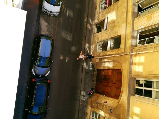 A Bird's Eye View Streetphotography City Life Built Structure City View From The Balcony Transportation Architecture