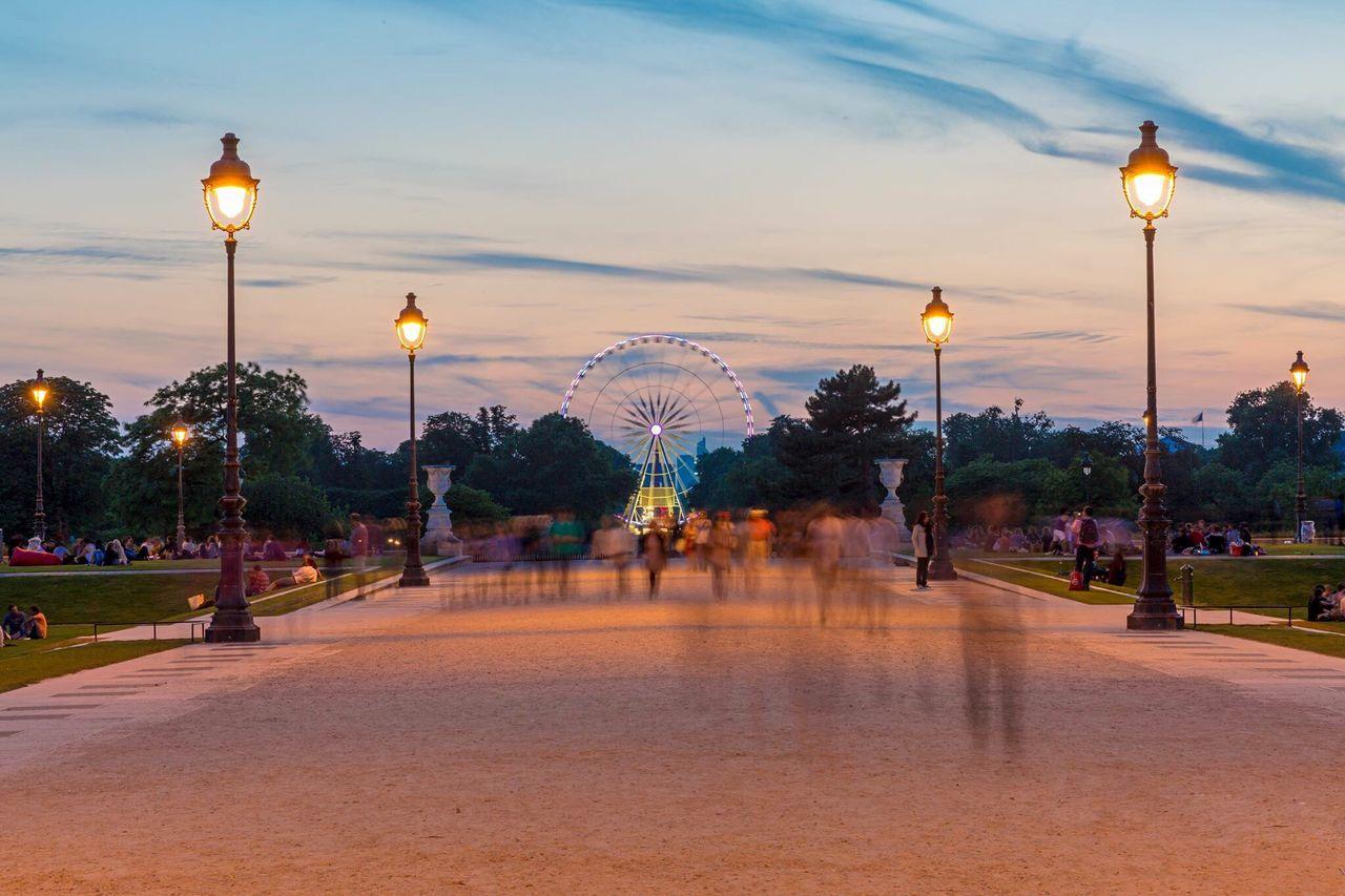 Beautiful stock photos of paris,  Amusement Park Ride,  Arts Culture And Entertainment,  Blurred Motion,  Capital Cities