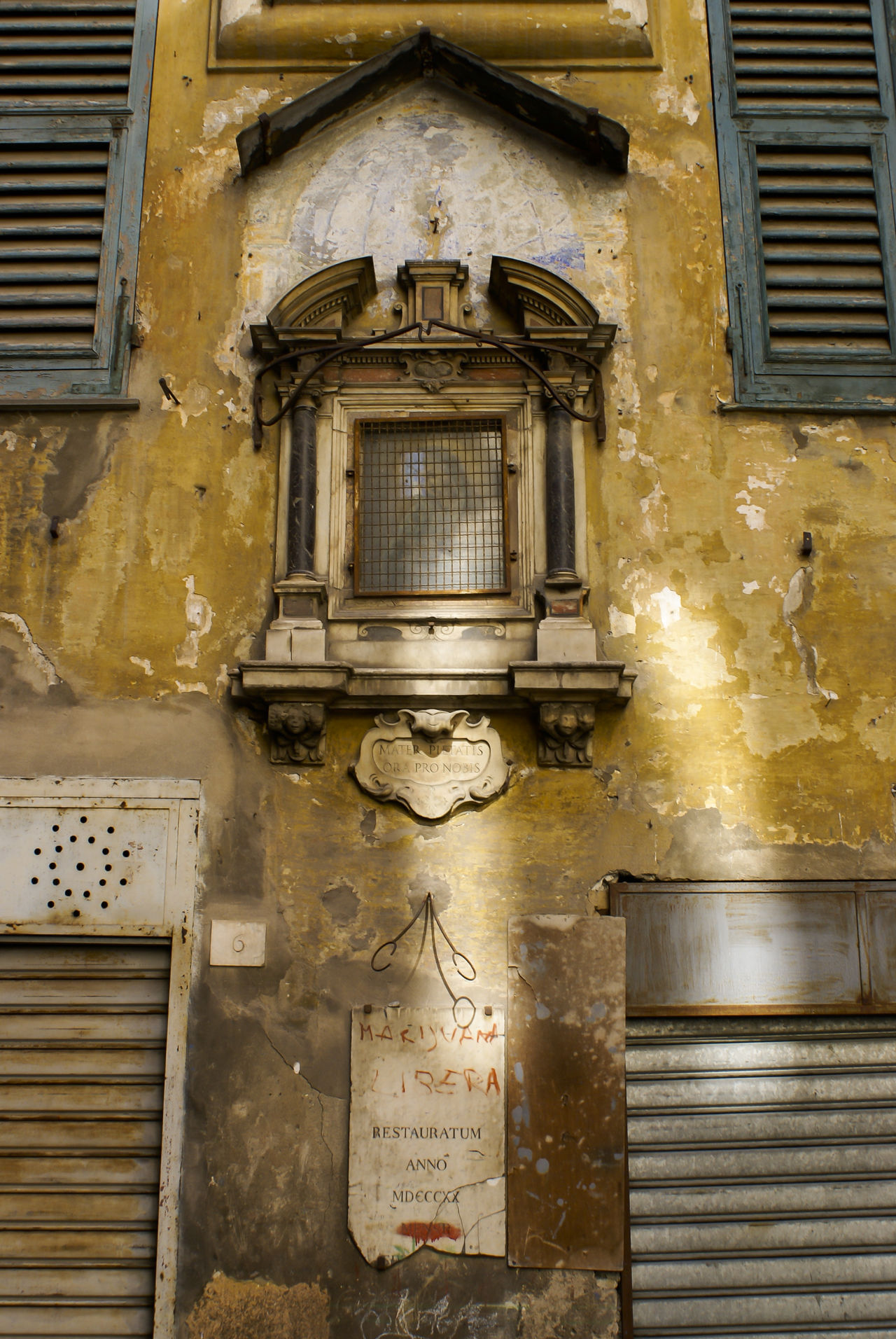 Piazza Valoria, Genova Architecture Building Exterior Built Structure Centrostorico Day Genova Historical Building Medieval No People Old Outdoors Palazzo Piazza Valoria Shutters Wall Window