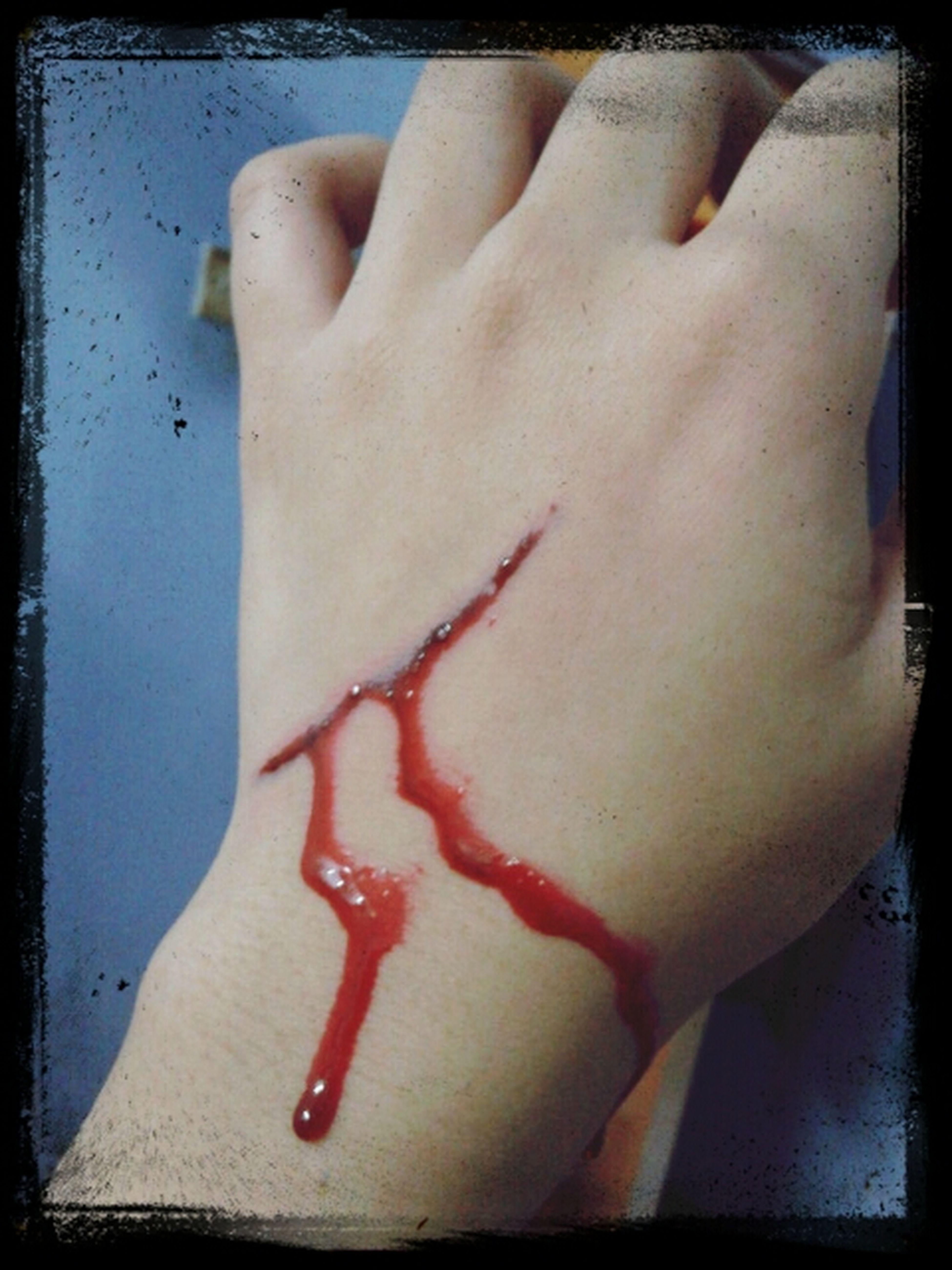 Make up~ Fake Cut And Fake Blood