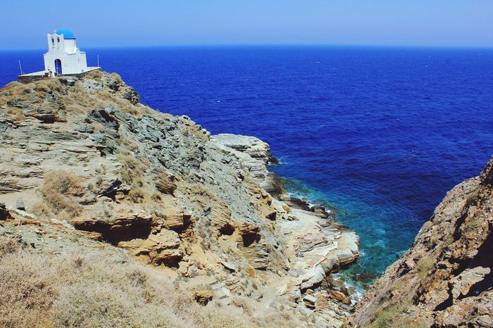 Chapel Greece Sifnos, Greece  White Blue Bigblue Aegean Sea Landscape_photography Landscape Architecture Nature Island Travel Scenery Paintinglike Orthodox Church