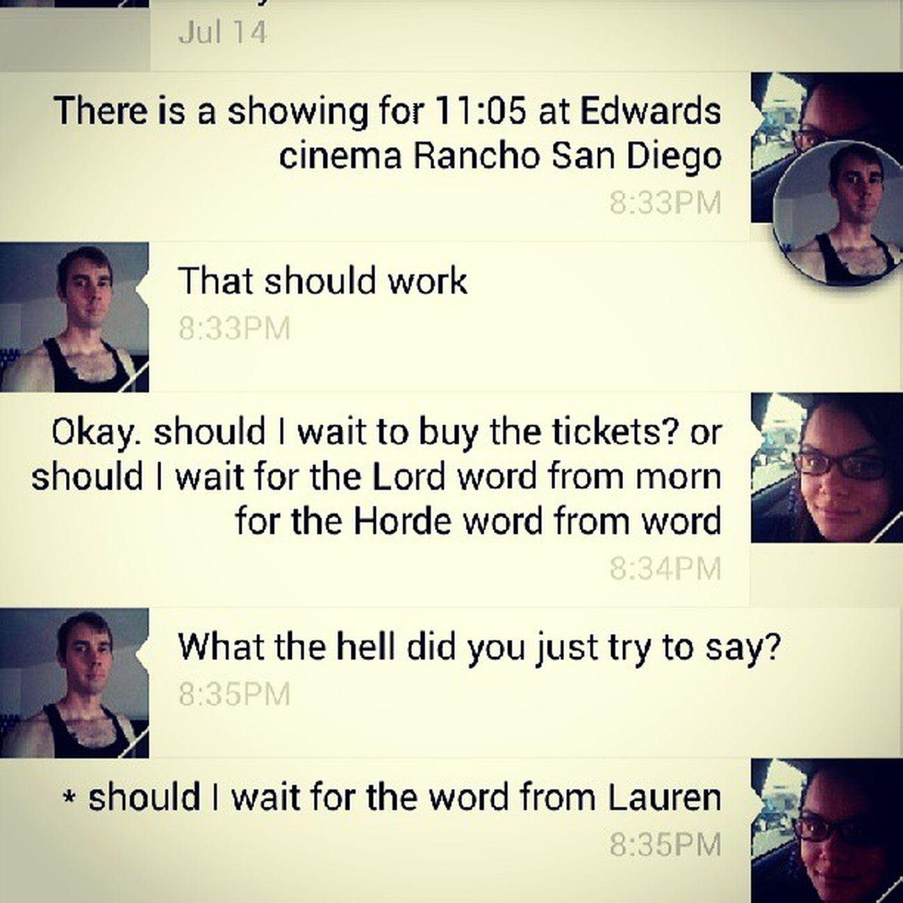 I love you, talk-to-text. Typos Wherewasautocorrect Texting Funny nonsense saturdaynight planning movietime sandiego california