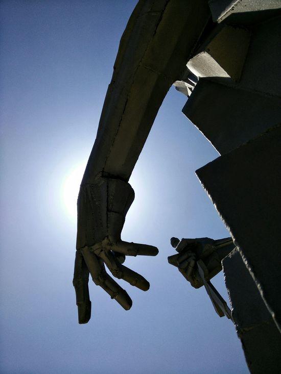 Sun Sunset Silhouettes Metal Statue Nacimiento Del Rio Tajo