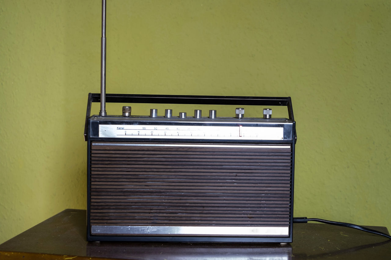 Analogue Architecture Broadcast Classic Close-up Consumer Electronics Day Design Indoors  Metal No People Quality Radio Retro Seventies Transistor Tuner Vintage Wooden