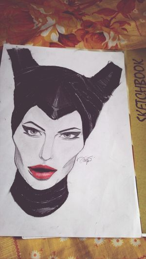 my drawing of Maleficent Art Sketching Drawing Art Drawing