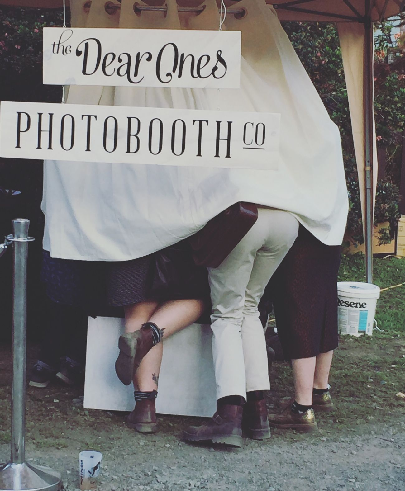 Outside the box Photobooth Nostagia Real People Low Section Outdoors New Zealand Lifestyles People