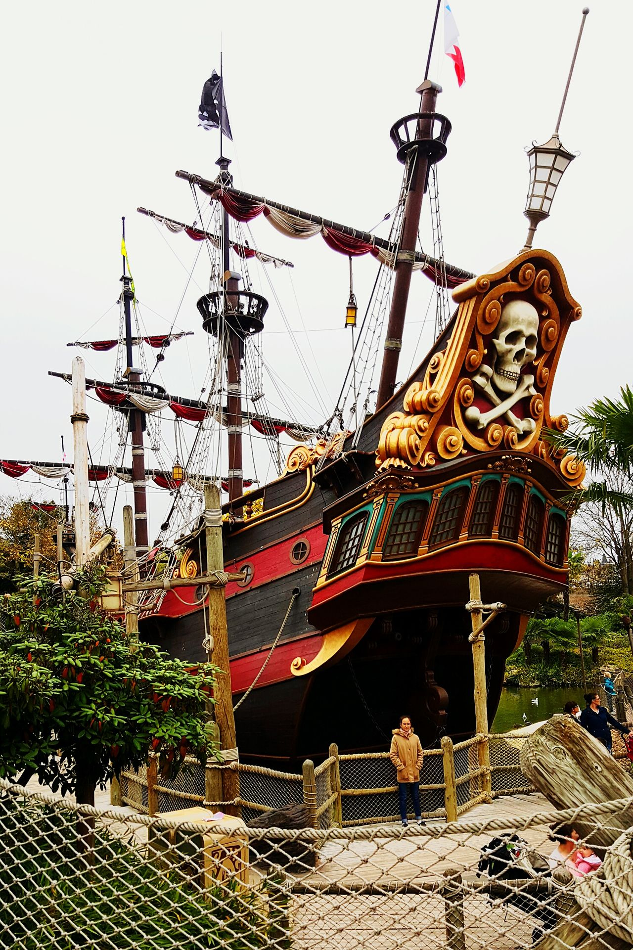 Low Angle View Built Structure Sky Architecture Outdoors Day Ships⚓️⛵️🚢 Ship Pirateship  Pirate Disneyland Disney Disneyland Paris